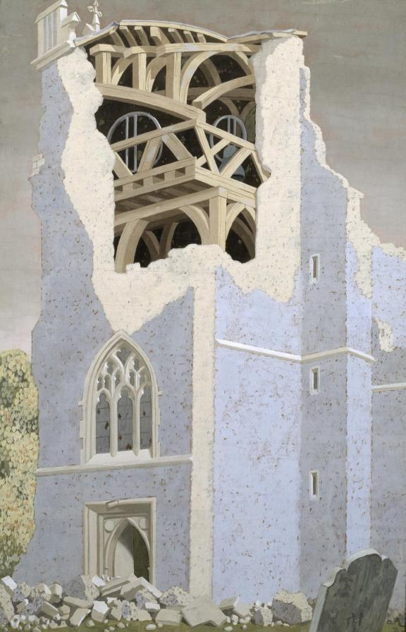 Coggeshall Church, Essex 1940 by John Armstrong 1893-1973