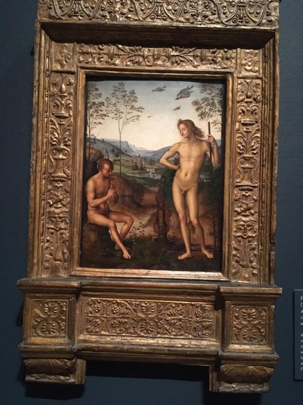 Pietro Perugino Apollo and Daphnis 1495