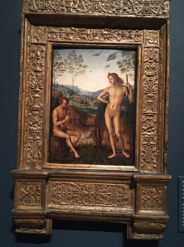 Pietro Perugino Apollo and Daphnis 1495