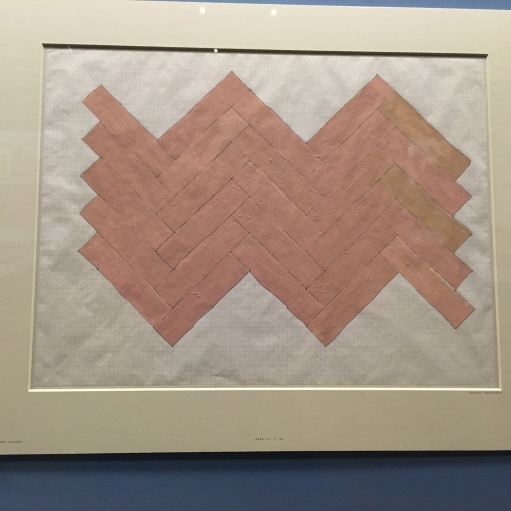 Rachel Whiteread, Pen, ink and Gouache on graph paper