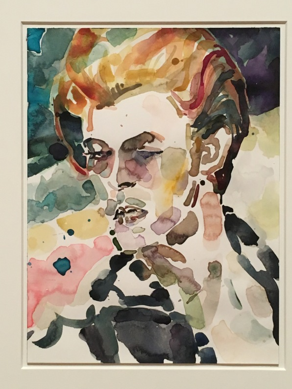 David Bowie, watercolour