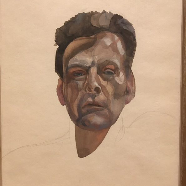 Self-portrait 1974, Watercolour and pencil on paper