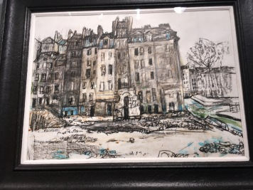 Detail from Houses, Paris by Joan Eardley RSA at Duncan Miller Fine Arts